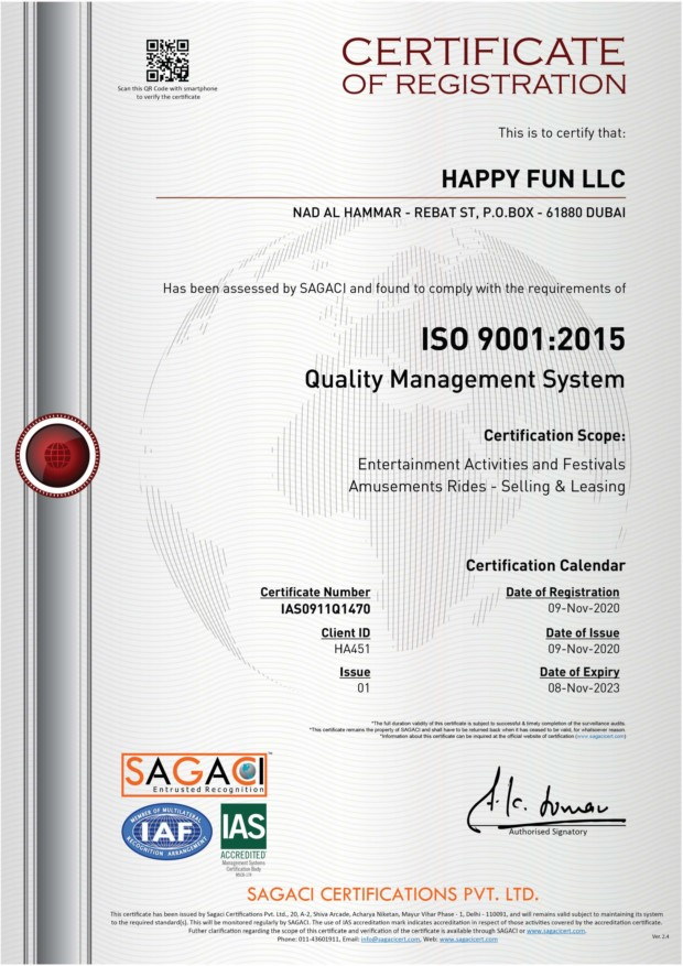 HAPPY FUN - ISO 9001:2015